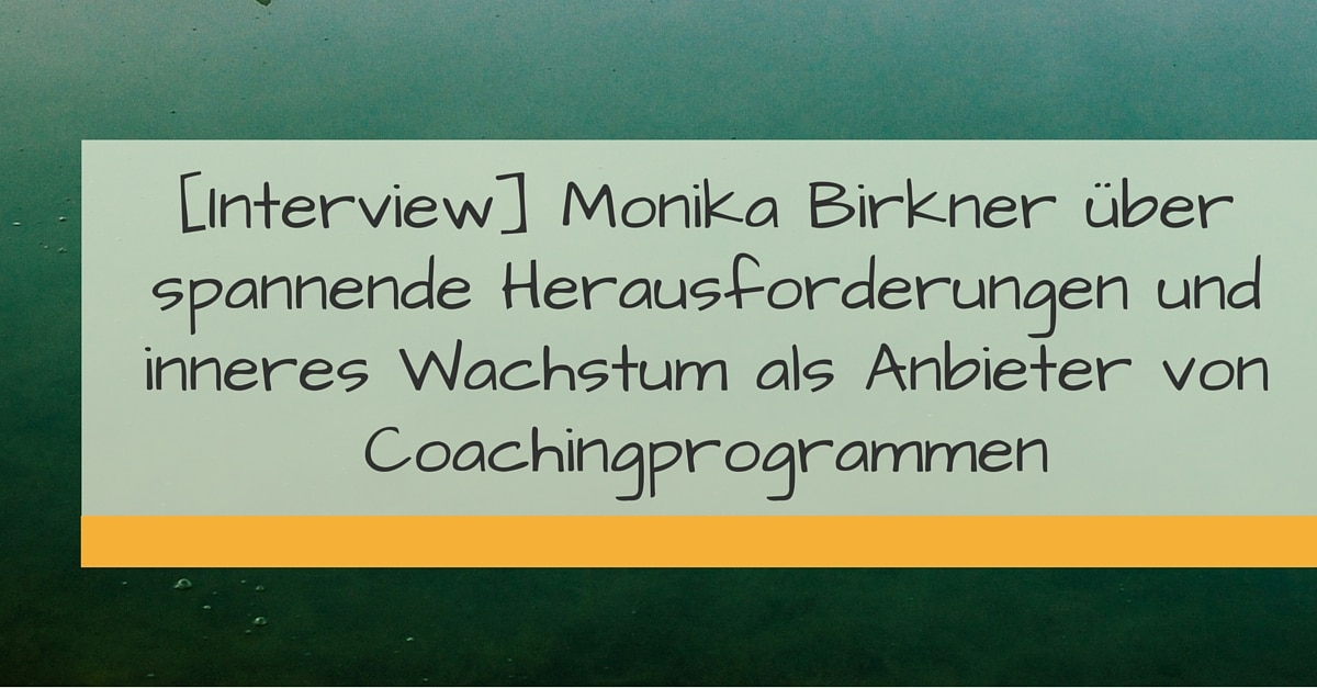 -[Interview] Monika Birkner