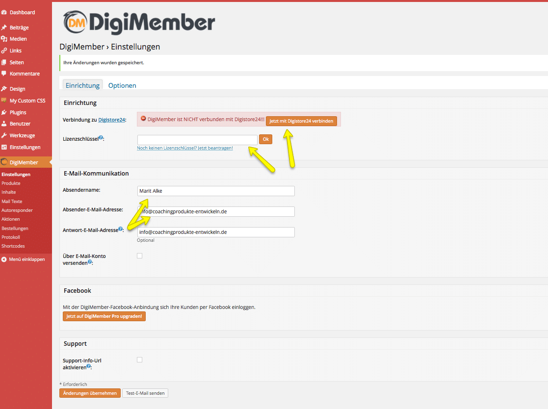 Digimember Einstellungen1