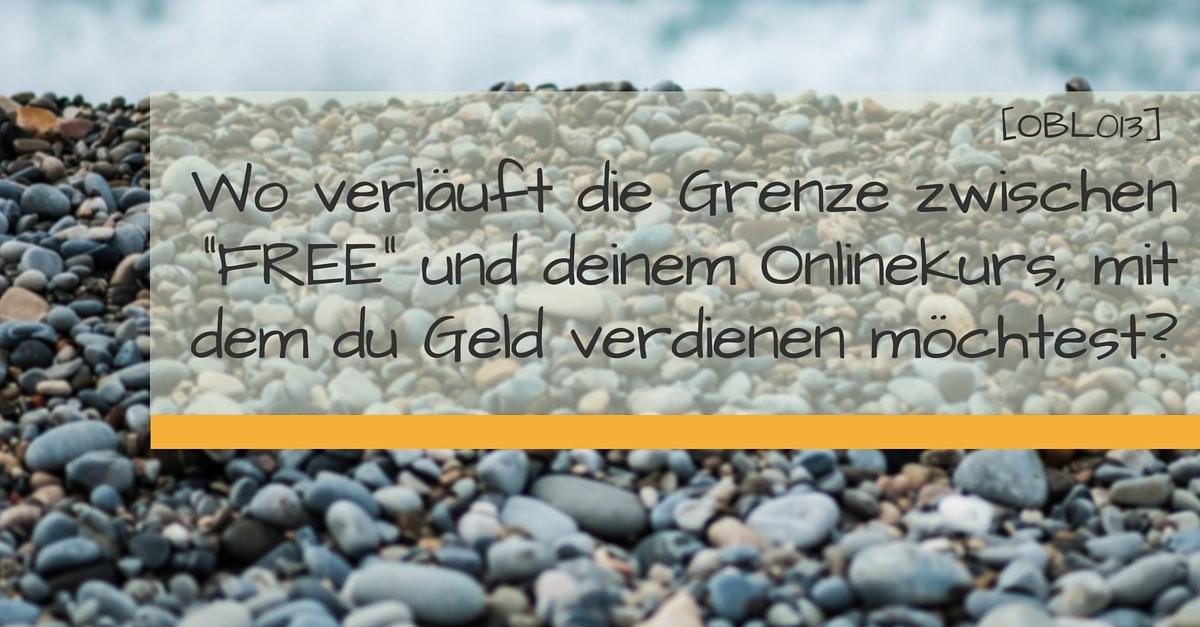 Grenze free paid Onlinekurs